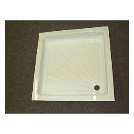 Caravan Acrylic Shower Tray - White
