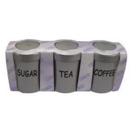 3 Piece Canister Set - Silver