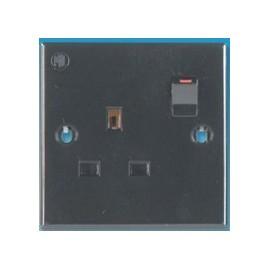 240V Single Socket - Black
