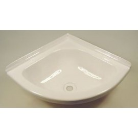 "Corner Basin For Caravan - Mini 11"" X 11"" - White"