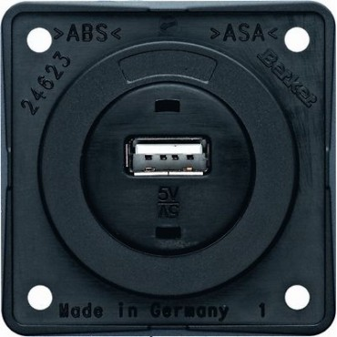 W4 Berker 5a USB Charging Point for Caravans & Motorhomes