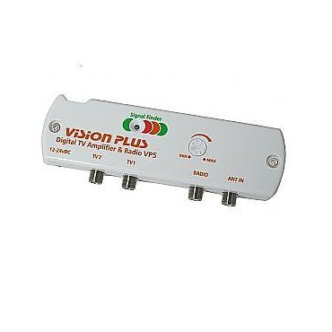 Vision Plus Digital TV Radio Amplifier with Signal Finder VP5