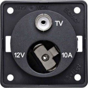 Caravan / Motorhome Berker 12v Cigar & TV Point Socket