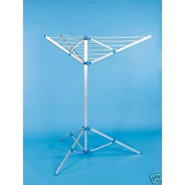 Caravan 3 Arm Rotary Airer / Washing Line C/W Foot