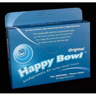 Caravan Campervan Toilet Happy Bowl Liners