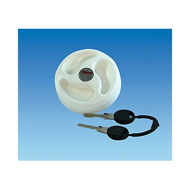 Replacement White Water Filler Cap C/W Keys