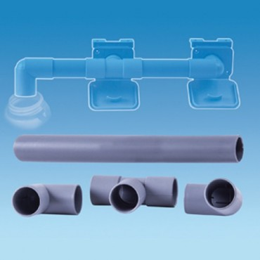 28mm Caravan Waste Water Drain Away Outlet Double Connection Kit