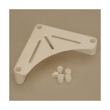Caravan / Motorhome White Table Support Bracket - Pack Of Two
