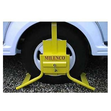 "Milenco C14 Wheel Clamp - Fits 14"" Single Axle & 15"" Twin Axles"