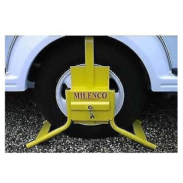 "Motorhome Milenco M15 Wheel Clamp - Fits 15"" Motorhome Wheels"