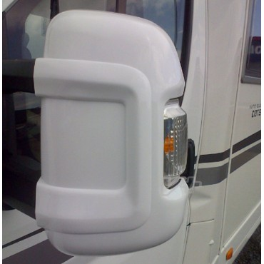 Milenco Motorhome Mirror Protectors - To suit Ducato, Boxer, Relay 2006+ - White