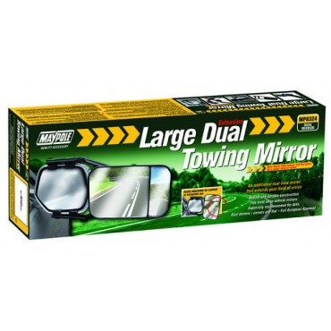 Caravan Towing Mirror - Extra Large Dual Extension