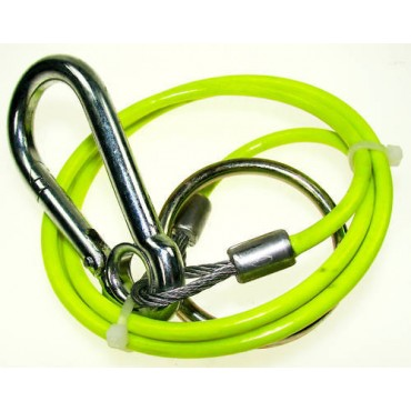 Breakaway Cable With Split Ring - Yellow