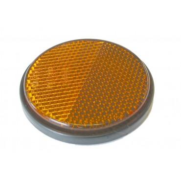 Caravan Camper Self Adhesive Amber Circular Round Reflector