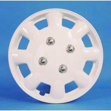 """Pair Of Milenco Caravan 13"""" Magnolia Wheel Trims"""