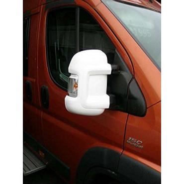 Milenco Van Mirror Protectors - To suit Ducato, Boxer, Relay 2006 on - White