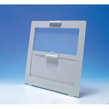 Caravan 400x400 Rooflight Flyscreen & Blind - White