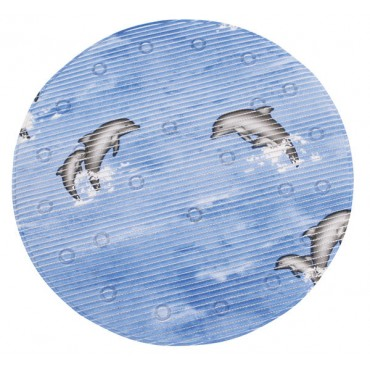 Comfratex Round Shower Mat - Dolphin