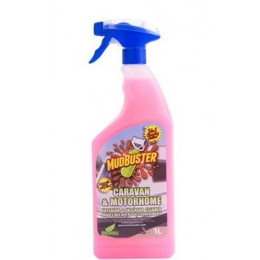 MUD BUSTER Caravan & Motorhome Cleaner 1ltr Spray - Exterior & Interior Cleaner