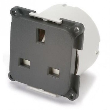 C-Line 240v Mains Socket With Back Box