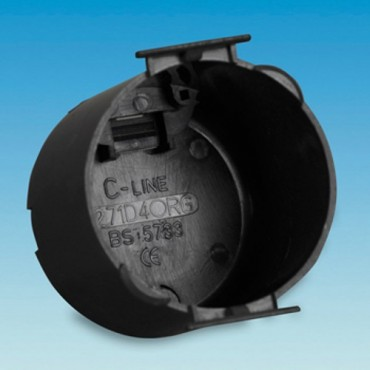 C-Line Black Circular Back Box for CBE & C-Line Sockets & Switches