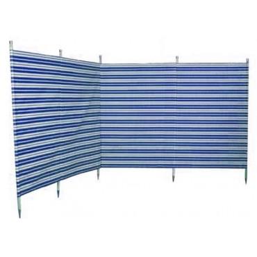 Blue Diamond 5 Pole Windbreak - Navy Blue / Cream Stripe