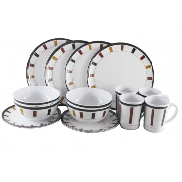 Picnic / Melamine 16 piece Dinner Set - Elegance
