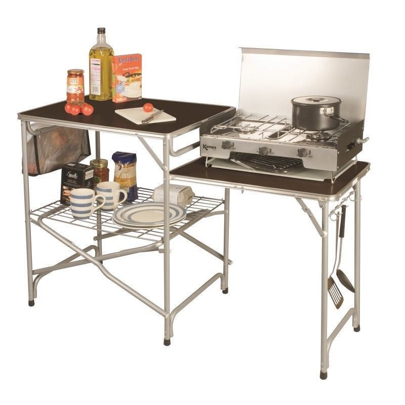 Caravan Kitchen Accessories: Camping Kampa Colonel Field Tent Camp Kitchen Stand
