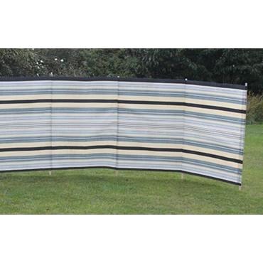 Blue Diamond 7 Pole Windbreak - Sand / Grey Contemporary Stripe