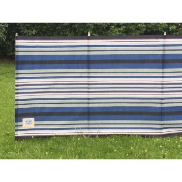 Blue Diamond 9 Pole Windbreak - Navy / Burgundy Contemporary Stripe