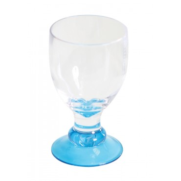 Quest Elegance Polycarbonate Goblet 'Glass' - Blue