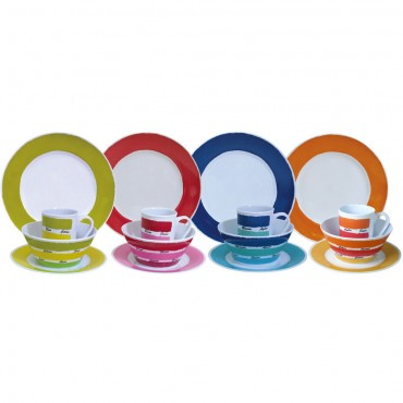 Picnic / Melamine 16 piece Dinner Set - Colour Works