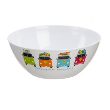 Camping Camper Smiles Salad / Fruit Bowl