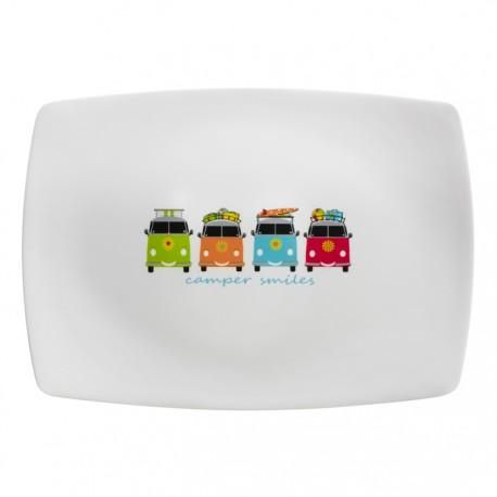 Camping Camper Smiles Sandwich / Dessert Platter