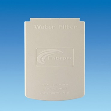 Filtapac White Water Filter Housing Lid with Hinge Pins for Crystal 2 Inlet