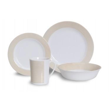 Quest Latte 16 Piece Melamine Picnicware Camping Dinner Set