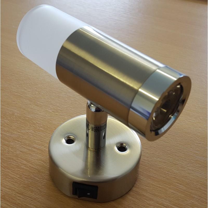 hadar 12v switched led steel reading light lamp caravan stuff 4 u