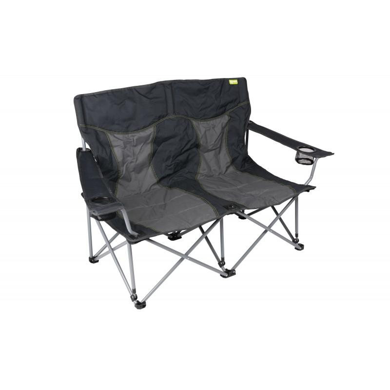 Kampa Lofa Two Seater pact Folding Camping Chair Charcoal Caravan Stuf