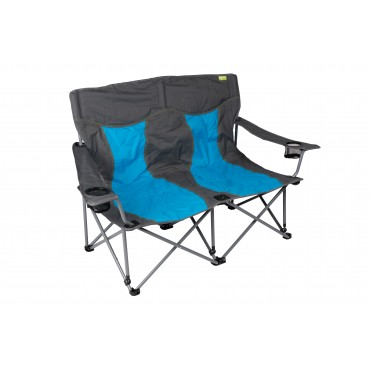Kampa Lofa Two Seater Compact Folding Camping Chair - Blue