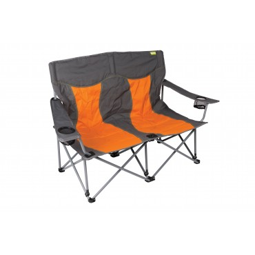 Kampa Lofa Two Seater Compact Folding Camping Chair - Burnt Orange