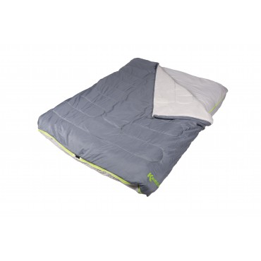 Kampa Kip Zenith Kombi Double Sleeping Bag with integrated fitted sheet