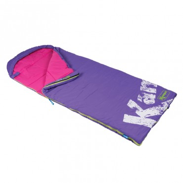 Junior Childrens Sleeping Bag with Stuff Sac - Kampa Kip Venus
