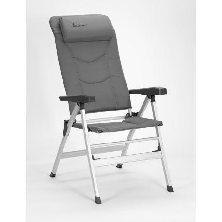 Isabella Thor Lightweight Alloy Folding Reclining Camping Chair - Light Grey