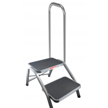 Crusader Strong & Stable Steel Double Caravan Step with Side Handle
