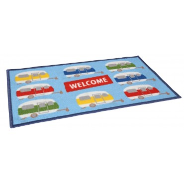 Quest Caravan Welcome Machine Washable Door Mat