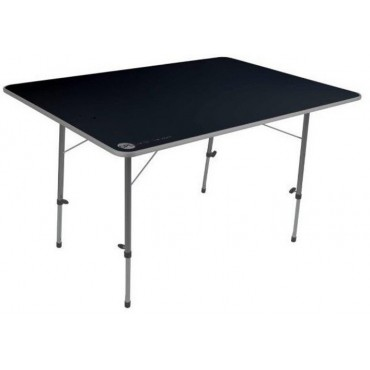 Crusader Adjustable Legs Large Camping Table - 120cm x 80cm