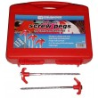 Crusader 20 x Heavy Duty Hard Ground Pro Caravan Awning Screw Pegs