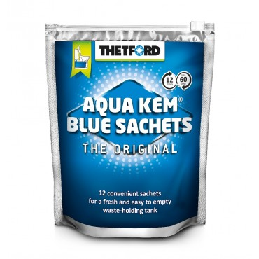 Thetford Aqua Kem Blue Sachets - Pack of 12 -
