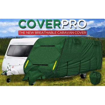 CPL CoverPRO Heavy Duty Green Caravan Cover to suit Caravans from 12' to 14'