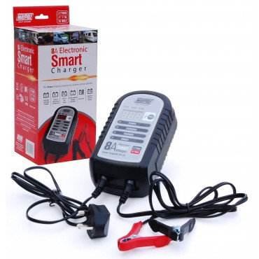 Maypole  8A 12V Electronic Smart Charger